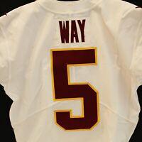 Tress Way Washington Football Team Game Used #5 White Jersey vs Tampa