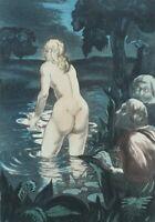 BERTHOMME SAINT-ANDRE :  Les voyeurs - EAU FORTE érotique, 1931, 346ex