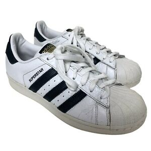 adidas Superstar White Textured Leather Trainers Size UK 7 EU 40 2/3