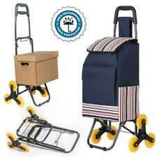 """Folding Shopping Cart,Stair Climbing Cart,Stainless Steel Frame(37""""x16�x14"""" ;)"""