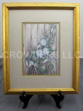 "Carmel Foret Morning Glories Matted 15""x18"" Framed Signed & Numbered 267 of 1500"
