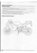 Honda CBR 600RR Service Repair Maintenance Workshop Manual  [**PDF**] 2003-2004