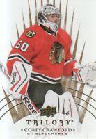 2014-15 Upper Deck Trilogy Hockey #25 Corey Crawford Chicago Blackhawks