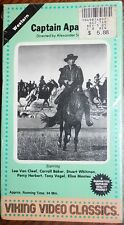 CAPTAIN APACHE (vhs) Lee Van Cleef, Carroll Baker. Brand NEW. Viking Video. west