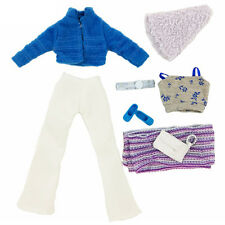 Handmade Fashion Winter Coat Scarf Pants Shoe Clothes Outfit Set For Barbie Doll