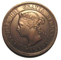 Old Canadian Coins 1882 H Large Cent Canada Highgrade Beauty