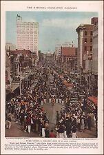 Jackson, Mississippi, Capitol Street, vintage print, authentic 1937