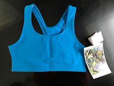 Vintage 1990s Activewear NOS New Tag Fitness Yoga USA Blue Sports Bra Juniors XL