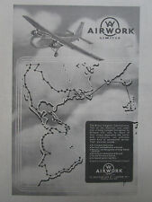 8/1946 PUB AIRWORK BRISTOL FREIGHTER DEMONSTRATION TOUR AMERICAS AD