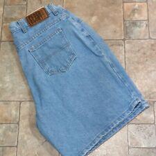 Faded Glory Womens 16W Blue Jean Denim Shorts 100% Cotton Lt Wash Measures 32x8