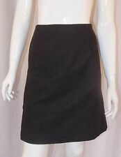 J. CREW Grey Wool Blend Basic Plain Pencil Skirt Career Wear Sz 4 Small
