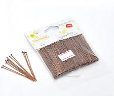 "1 Packet(300PCs) Well Sorted Copper Tone Head Pins 5cm(2"") SP0603"