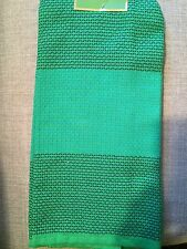 KATE SPADE ALL IN GOOD TASTE PICNIC GREEN COLOR BLOCK  KITCHEN TOWEL NIP