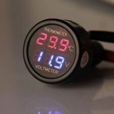 Newest 12V/24V 2in1 LED Car Auto Cigarette Lighter Digital Voltmeter Thermometer