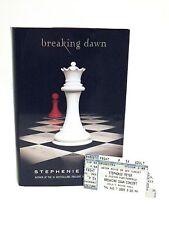 "Stephenie Meyer Twilight Author SIGNED Book ""breaking dawn"" w/ Concert Ticket"