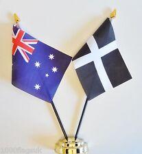 Australien & Cornwall Doppel Freundschaft Tisch Flagge Set