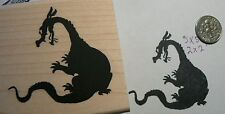 Dragon silhouette rubber stamp P49C