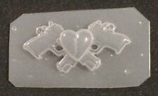 Pistol Guns/ Heart Breaker Broken Heart Flexible Resin Mold Craft Supplies