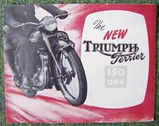TRIUMPH TERRIER 150 OHV MOTORCYCLE SALES BROCHURE CIRCA 1953