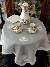 "Fabulous Vtg Madeira Linen Organdy Tablecloth Set 34"" Topper, Bridge Gremio"