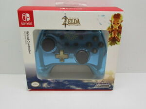Nintendo Switch Wired Controller Zelda Blue Chrome Limited Special Edition
