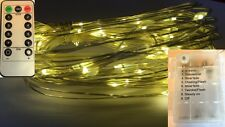 30 LED WARM WHITE Battery String Light+Remote Control+8Mode+Use IN/Outside+Timer