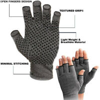 2 Copper Compression Gloves Arthritis Fit Carpal Tunnel Hand Wrist Brace Support