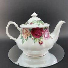 New listing English Rose Fine Bone China 6 cup Teapot Roy Kirkham Made in England Country