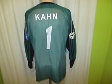 Bayern Monaco Adidas Champions League portiere maglia + N. 1 KAHN TG S-M