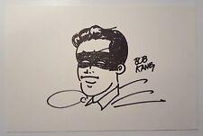 BOB KANE ORIGINAL AUTHENTIC Robin SIGNED DATED DRAWING   Batman