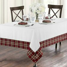Waterford 70 X 70 Square Middleton Holiday TABLECLOTH Red Green Gold White  Plaid