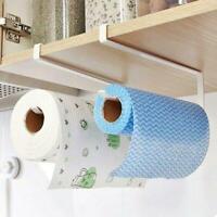 Kitchen Bathroom Hanging Rack Cabinet Roll Paper Towel Holder Hanger Hook K4C2
