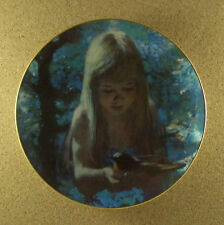 Dawn Plate Precious Moments Collection Thornton Utz 1980 #5 Fifth Robin Morning