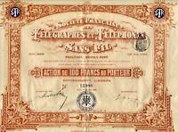 Dépt 75 - Paris - Belle Frise Célèbre Télégraphie Sans Fil Branly Popp de 1903