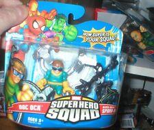 MARVEL SUPER HERO SQUAD DOC OCK AND BLACK COSTUME SPIDER-MAN, UNOPENED, HASBRO