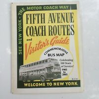 NYC TRANSIT- WORLDS FAIR BUS MAP FIFTH AVE 42nd STREET NYC