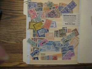 US Stamp lot of State Revenues not researched mint/used