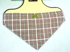 NWT WOOLRICH TAN RED PLAID CHECKED DOG BANDANA SIZE LARGE