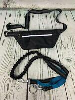 LANNEY Hands Free Dog Leash for Running Walking Training Hiking Dual Handle Teal