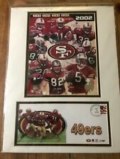 SAN FRANCISCO 49ERS NFL 2002 USPS 12X16 MATTED PHOTO & EVENT COVER Free Ship USA