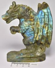 LABRADORITE CRYSTAL DRAGON CARVING 10 cm P03