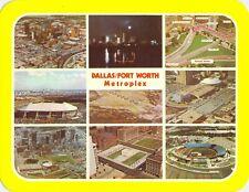 TX Dallas Fort Worth Metroplex MULTI VIEW STADIUMS Aerial views 5.5x7 postcard