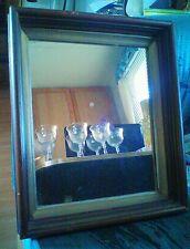 Victorian walnut deep frame mirror c1880