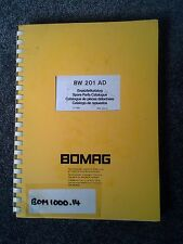 BOMAG SINGLE DRUM WHEEL DRIVE VIBRATORY ROLLER BW201AD  PARTS CATALOGUE BOOK