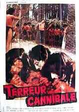 HORROR - EUROCINE Silvia SOLAR Pamela STANFORD  french poster CANNIBAL TERROR