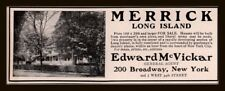 1908 AD  MERRICK LONG ISLAND LAND FOR SALE HOMES
