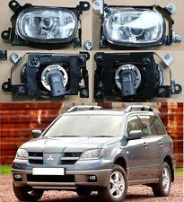 For MITSUBISHI Outlander 2003-2006 Left & Right Front Fog Lights Lamp Assembly