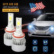 Cree LED Headlight Kit H8 H9 H11 Conversion Light Bulbs 60W 7200LM 6000K White