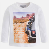 Mayoral Boys Long Sleeved T-Shirt with Print ( 04035) aged 2-8
