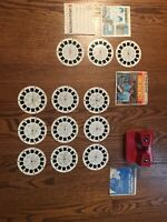 Vintage 1970's Red & White gaf View-master Bicentennial USA Clean!